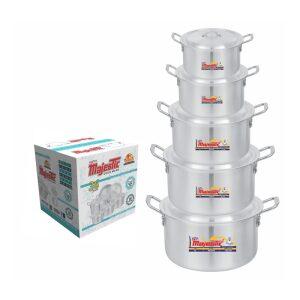 Majestic Super Cooking Pot 5 Pcs Set 2×6 – CPMF-2x6HOM