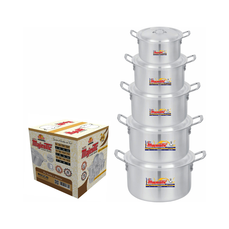 Majestic Royal Cooking Pot 5 Pcs Set 3×7 – CPMF-3x7HOM
