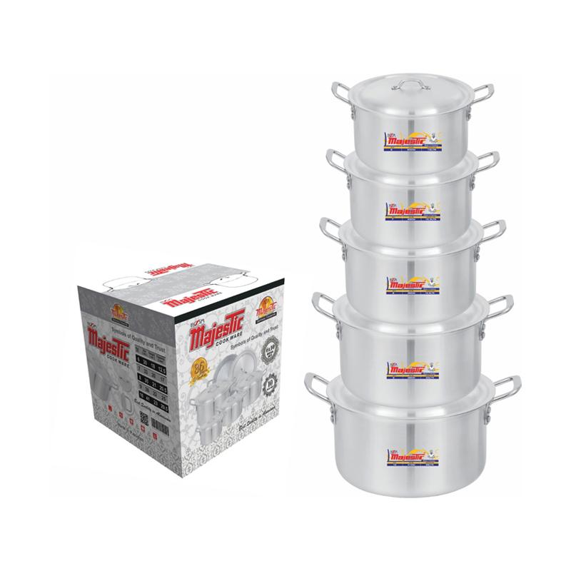 Majestic Mega Cooking Pot 5 Pcs Set 6×10 – CPMF-6x10HOM
