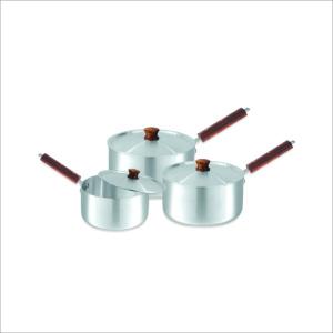 Sonex Sauce Pan Wooden Hanlde With Lid 3 Pcs Set 1×3 – 50273