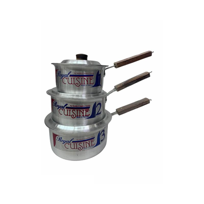 Royal Cuisine | Metal Finish Sauce Pan 4 Pcs Set 1×3 | SP1X3RC