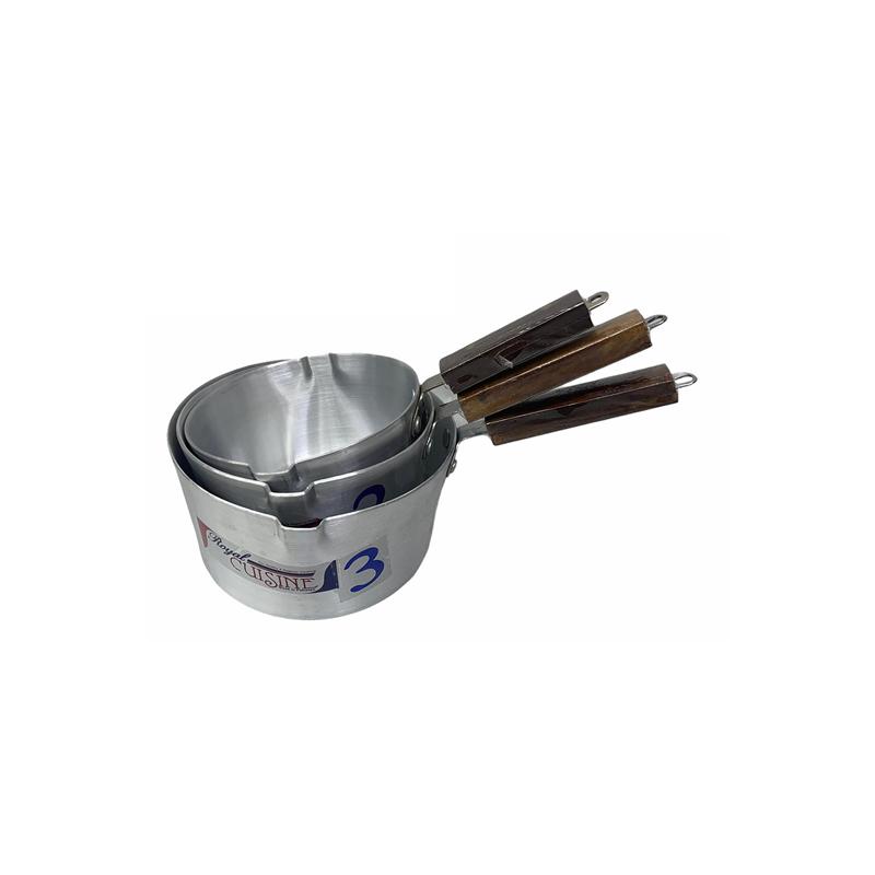 Royal Cuisine | Metal Finish Milk Pan 3 Pcs Set 1×3 | MP1X3RC