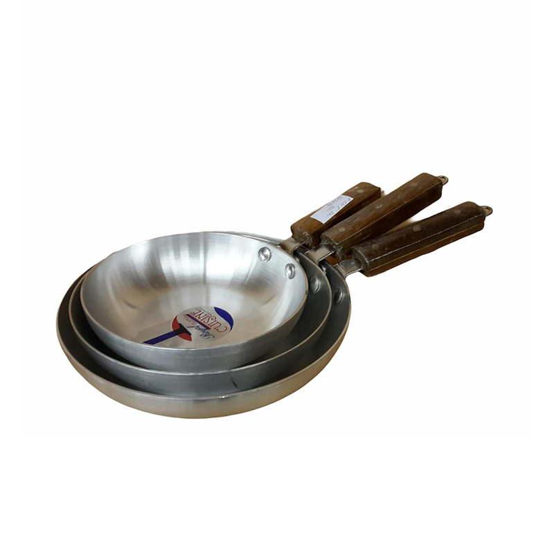 Royal Cuisine | Metal Finish Super Fry Pan 3 Pcs Set 1×3 | FP1X3RC