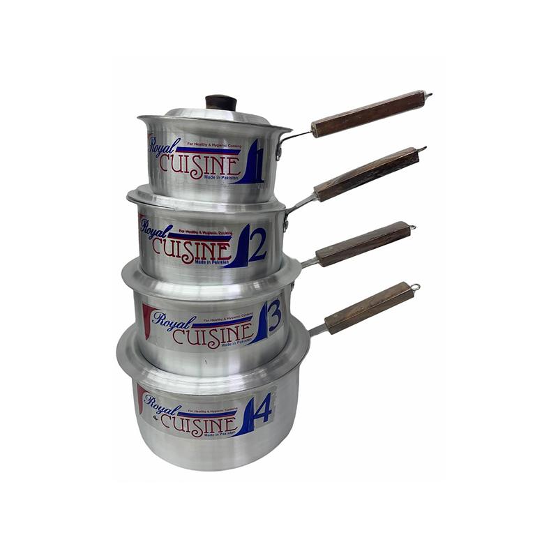 Royal Cuisine | Metal Finish Sauce Pan 4 Pcs Set 1×4 | SP1X4RC