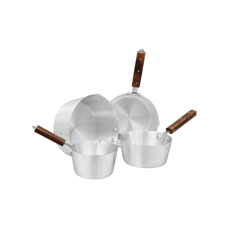 Royal Cuisine | Metal Finish Milk Pan 4 Pcs Set 1×4 | MP1X4RC