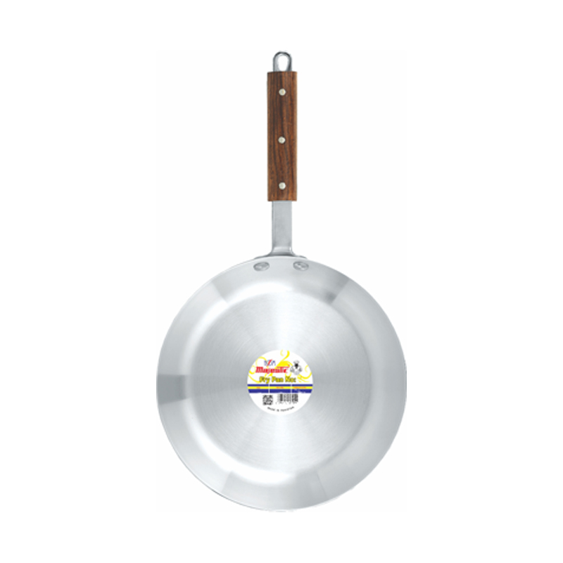 Majestic | Metal Finish Frying Pan with Wooden Handle 3 Pcs Set 1×3 – FPHOM1x3